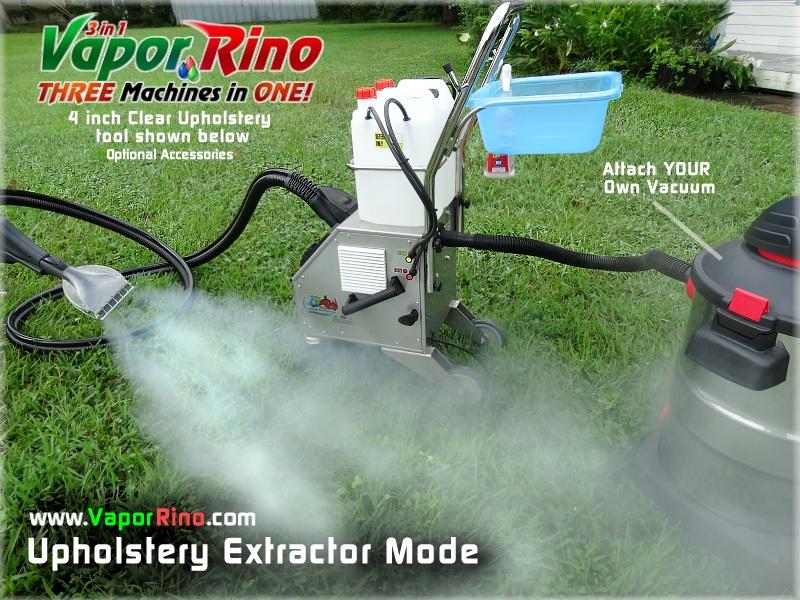 Vapor Rino Extractor Kit - Upholstery Dry Steam Cleaner ...